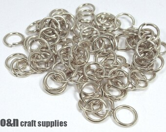 Silver jump rings, 5mm  - 50 pieces