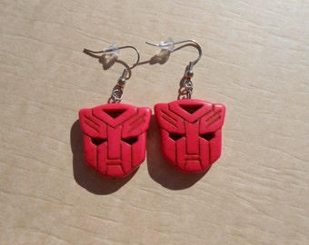 Transformers Autobot Pink Howlite Earrings