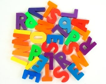 Vintage 1970s Fisher Price Magnetic Letters and Numbers / Choose Letter and/or Number and Quantity