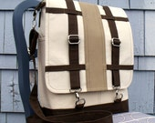 Convertible Backpack Messenger Satchel  LONDoN in OATMEAL, ChOCOLATE and TAN
