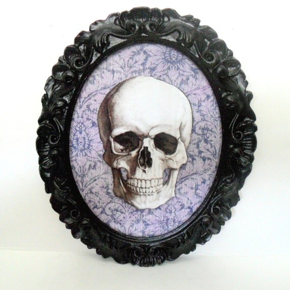 Gothic Home Decor Skull Wall Art Gothic Frame