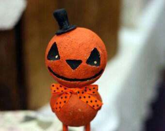 Snazzy Jack-O-Lantern Figurine