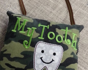 Camo Theme Tooth Pillow