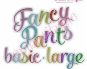 Fancy Pants Basic Fill Stitch Monogram Set - Large- Machine Embroidery Font Alphabet Letters  -  Instant Email Delivery Download design