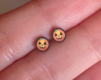Limited edition for Halloween Pumpkin Stud Earrings