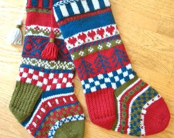 Fair-Isle Stockings Duo I PDF Pattern