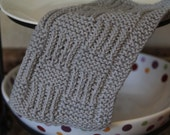 KNITTING PATTERN-Shaping Silhouettes, Dishcloth Pattern