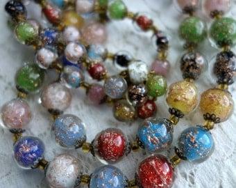 Vintage Venetian Bead Necklace