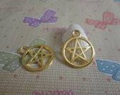 20pcs 25mmx20mm pentagram Gold color Retro Pendant Charm For Jewelry Pendant