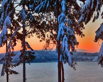 Gorgeous Winter Wonderland Panorama Photo