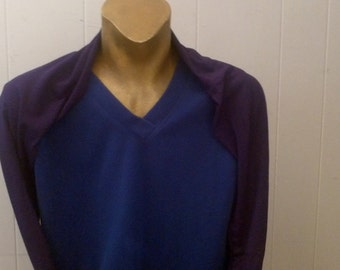 Bamboo stretch   trav-ALL Shrug in Deep Purple