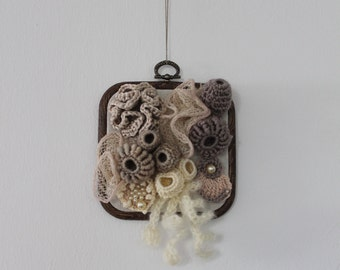 Coral Reef / Freeform Crochet Wall Hanging / Sculpture