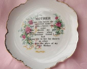 Vintage Floral Shaped Mother Decorative Plate