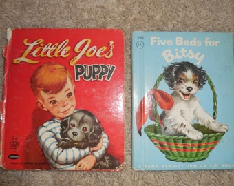 Two Puppy Childrens Book COVERS and BACK Only