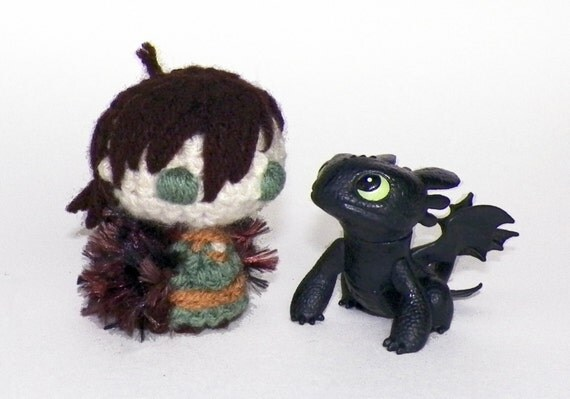 Amigurumi Hiccup from How to Train Your Dragon