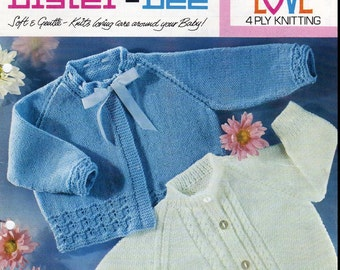 ****Baby Knitting PATTERNS - Baby Jackets/Cardigans/Sweaters - 4 ply