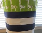 """Round Laundry Toy Bin XXL 17"""" diamater x 20"""" tall"""