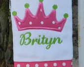 Burp cloth//personalized burp cloth //girl burp cloth //girl baby gift