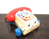 Vintage Fisher Price 1961 #747 Chatter Box Telephone #59