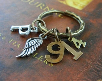 Psalm 91:4-christian keyring-He will cover you with His feathers