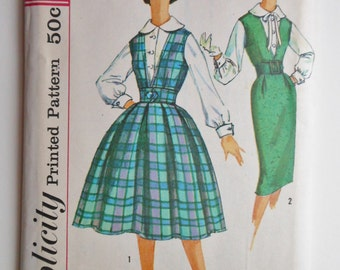 Vintage Simplicity 3079 Misses' Jumper with Skirt & Blouse
