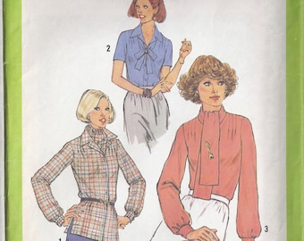 Vintage 70s Sewing Pattern Simplicity 8252 Miss, Size 12, Bust 34