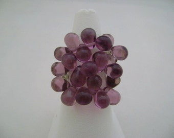 Czech Glass  Stretchy Beaded Ring