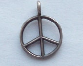 Peace Sign Vintage Sterling Silver Charm