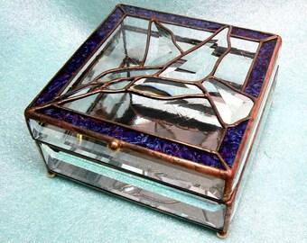 Beveled Glass Hummingbird Box 2