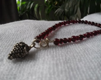 Garnet Grape Bracelet