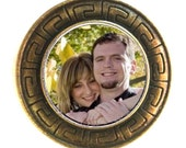 Military or Groom's 1-sided Bronze Memory Memorial Pocket Coin - FREE SHIPPING