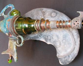Raku Ray Gun Ceramic Sculpture - Kilgore Trout Stellar Molestor