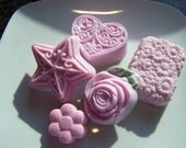 Pink Hearts and Flowers Soap