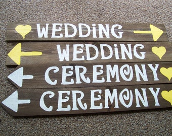 4 rustic wedding Signs w/stakes / wedding signage /  custom signs / personalized sign / wedding decoration / country wedding / ceremony sign