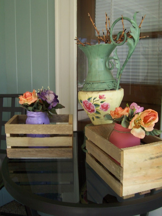 Wood Crates Rustic Wedding Reception Decorations By