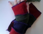 Cashmere Recycled Sweater Armwarmers - Fingerless Gloves Mitts Texting Gloves