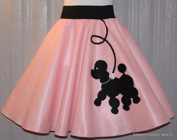 Adorable Girls Custom Made Prancing poodle skirt Your choice of Size and Color S,M,L,XL Prices from 29.00 and Up!
