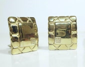 Vintage GIVENCHY Gold Tone Clip Earrings 1980's Nice Quality!