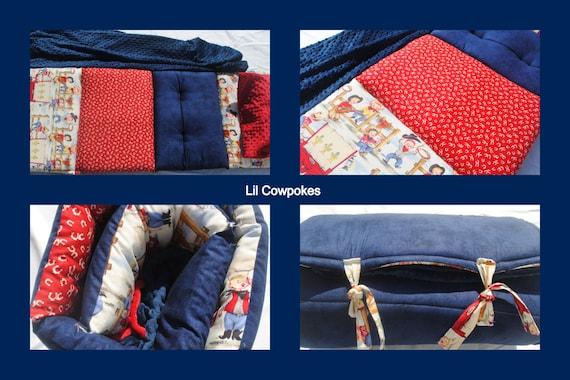 2014 Lil Cowpokes Nap Mat by janiebee  Toddler Nap Mat   Daycare Nap Mat  Boutique Nap Mat Quilted Nap Mat