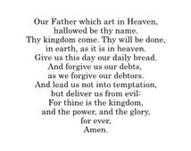 The Lord's Prayer - Vinyl Wall Decal