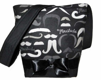 Mustache Bag Black & Grey