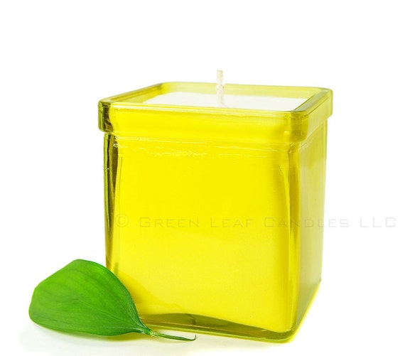 Hello Yellow - Soy Candle - Recycled Glass Soy Container Candle - Yellow