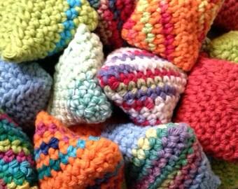 Mini Beanbags Pocket Size -Teacher Supplies, Stocking Stuffer, Circle Time, Birthday Party Favors Set of 12 Mini Beanbags
