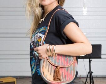 Vintage KILIM Bag • Southwestern Purse • Zili Woven Bag