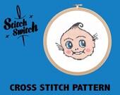 DIY Tattoo Themed Kewpie Doll Cross Stitch Pattern