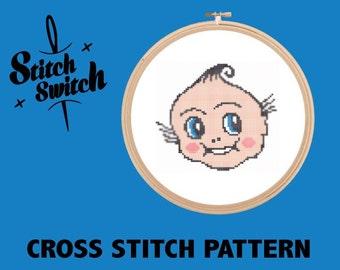 DIY Tattoo Themed Kewpie Doll Cross Stitch Pattern