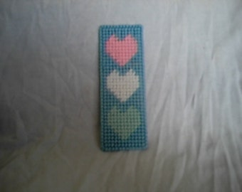 Heart Bookmark PDF Plastic Canvas Pattern
