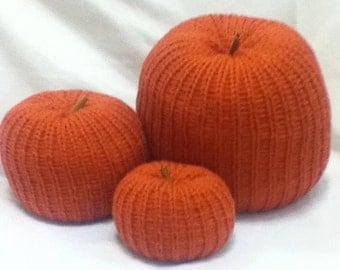 stuffed pumpkin set