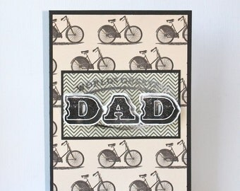 Dad Bicycle Handmade Card