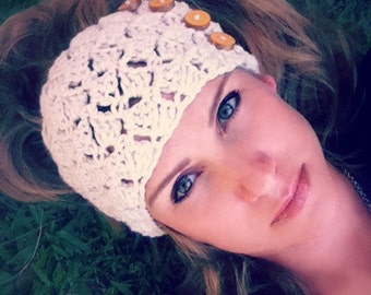 Crochet Head Wrap Pattern - No.804 Digital Download Headband Pattern Adult